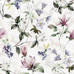Tkanina zasłonowa w kwiaty...