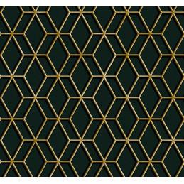 Tkanina Złoty geometryczny...