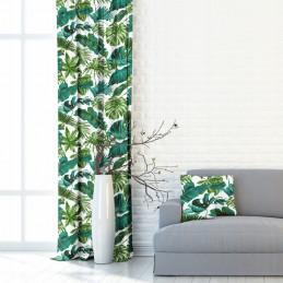 Zasłony zielono turkusowe...