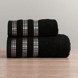 LUXURY Ręcznik, 70x140cm, kolor 156 czarny LUXURY/RB0/156/070140/1