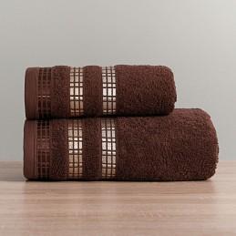 LUXURY Ręcznik, 70x140cm, kolor 575 brązowy LUXURY/RB0/575/070140/1
