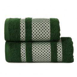 LIONEL Ręcznik, 70x140cm, kolor 202 ciemno zielony butelkowy ze srebrną bordiurą LIONEL/RB0/202/070140/1