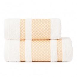 LIONEL Ręcznik, 70x140cm, kolor 302 biały ze złotą bordiurą LIONEL/RB0/302/070140/1