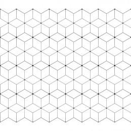 Tkanina  minimalistyczna w geometryczne wzory 380300-3101